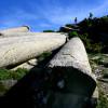 Остров Евия. Mасивни, 15 метра дълги римски колони.