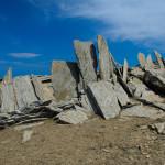 Остров Икария. Atheras билото и тези големи плоски камъни, които служат като туристически знаци. Кой го е направил, наистина твърде интересно...