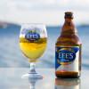 ... с бира Efes ...