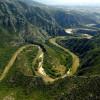 Дефилето на река Нестос образува уникални меандри, насред буйна растителност в недостъпни планински склонове.