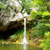 Най - красивите водопади в Северна Евбея се намират на надморска височина от 620 метра.